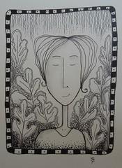 garden girl 2 (catherine329) Tags: girl garden doodle zia penandink zendoodle