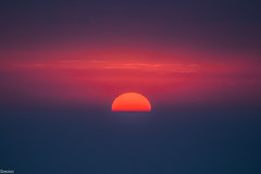 Elements of life (Siminis) Tags: sunset sea sky sun horizon line greece crete fireball heraklio horizonline elementsoflife siminis