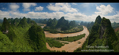 Panorama of the Li River from Xianggong Mountain, Xingping, Guangxi Autonomous Region, China (jitenshaman) Tags: china travel panorama mountains tourism nature water river landscape asian liriver li scenery asia guilin yangshuo travellers hill sightseeing chinese panoramic aerial tourists hills limestone vista destination peaks overlook viewpoint karst iconic birdseye traveler xianggong guangxi xingping worldlocations