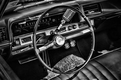 IMG_0131 (Silverio Photography) Tags: blackandwhite classic monochrome car boston photoshop canon vintage sigma cadillac anderson elements suburb 1770 vignetting brookline hdr topaz adjust larz 60d
