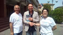 Vice Sindaco Comune di Aprilia Franco Gabriele con i nostri delegati Ilaria Bellucci Sessa e Antonino Rocca