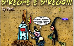 Beppaccio, l'instancabile mago maghello, (SatiraItalia) Tags: vignette satira beppe grillo umorismo