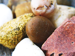 Pebble O Picasso (Alan FEO2) Tags: abstract outdoors colours stones pebbles chips sharp round hmm anythinggoes gravel macromonday 2oef