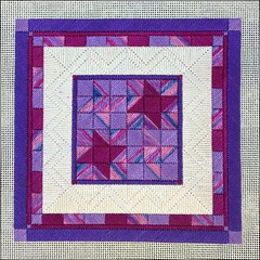 Friendship Star (Needleloca) Tags: 2016 laurajperin finished needlepoint canvaswork ribbet