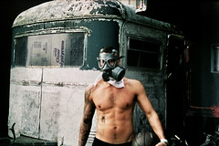 Caravan lover (Welland) Tags: muscles basketball naked scary lomo xpro factory topless disused gasmask zenit analogue shoreham rundown sexyman