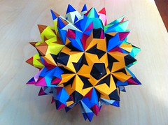 Bascetta Star Rhombicosidodecahedron (Paolo Bascetta) (Martin's Origami) Tags: 120 paper origami martin crafts craft modular easy assembly unit kusudama rhombicosidodecahedron bascetta