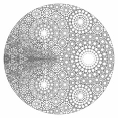 Six levels of recursion (fdecomite) Tags: circle geometry packing math gasket povray tangent recursivity imagej tangency apollonian