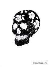 ? (k.dmitrijewa) Tags: flowers bw white black art illustration trash dark skull humor humour anatomy weiss schwarz pennyjey
