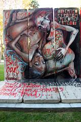 NOV 2011 151 (Lord Jim) Tags: street city streetart berlin art wall museum graffiti la losangeles side east segment inauguration wilshire dface wende retna herakut nov2011 herakutdfaceretna