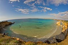 S'Arena Scoada bay - (S. Vero Milis - Sardinya) (Jokermanssx) Tags: sardegna cliff beach sand rocks fisheye rocce spiaggia oristano faraglione sardinya putzuidu sanveromilis riccardodeiana