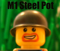 M1 Steel Pot 2 GI Brick Entry (edpmf1) Tags: helmets contests brickarms gibrick