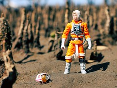 A whole new world (Fear_Through_The_Eyes) Tags: colour macro beach toy starwars close luke figure skywalker nudgee