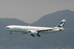 B-HLR (IndiaEcho) Tags: airplane airport pacific aircraft aviation cx aeroplane 330 hong kong civil airbus cathay hkg a330 airliner cpa vhhh bhlr