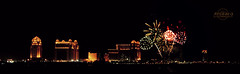The Fireworks in Last Eid . =D (    , ) Tags: light panorama night work canon fire lights fireworks d firework 600 works wid doha qatar katara adha  d600 qtr