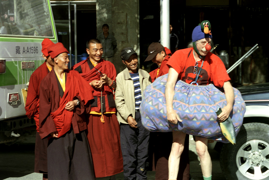 Patch Clowning (Lhasa, Tibet)
