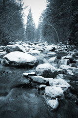 Cold (mike.irwin) Tags: trees winter snow mountains ice nature water river season landscape nationalpark colorado rocks stream snowy seasonal rocky frozon wwwmikeirwinartcom