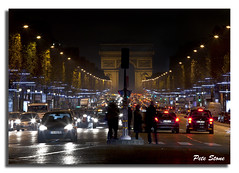 Champs Elysees rush hour ..... (pete stone) Tags: longexposure nightphotography paris france arcdetriomphe canoneos5d champselyseesave champselyseesrushhour