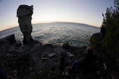 Flowerpot Island (blueheronco) Tags: ontario canada georgianbay flowerpot seastack 3dcamera fisheyelense flowerpotisland adamsilver donwilkes fathomfivenationalmarinepark ethanmeleg scoutinabout