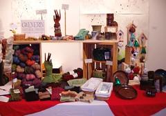 craft sale booth (gwen.erin) Tags: ohio display handknit setup mcdonough handspun youngstown mitts craftsale gwenerin