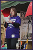 Debbie Turner 4 : Chair of UNISONs North West Regional Health Committee and Central Lancashire Health Branch Preston Flag Market #n30 #strike