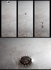6 (mh__photo) Tags: motion water 30 canon eos mirror droplets drops aqua spiegel flash drop h2o gravity elements bewegung droplet clone spiegelung element tropfen specchio 30d goccia gocce schwerkraft klon elemento elemente wasse strobist