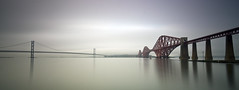 Cold, snow and fog at the Bridges - Explored (Grant_R) Tags: longexposure panorama scotland edinburgh pano panoramic firthofforth forthbridge southqueensferry forthroadbridge forthbridges forthrailbridge heliopan grantr edinburghphotographer edinburghphoto 10stopper