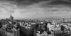 Madrid (Fernando Rey) Tags: madrid street bw panorama españa skyline calle spain panoramic bn panoramico