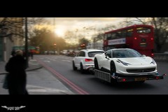 Rendezvous (Sukun Photography) Tags: sunset london canon eos design italia ferrari flare audi oakley 458 q7 40d sukun