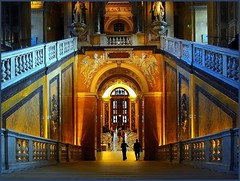 Habsburg magnificence in Vienna (jackfre2) Tags: vienna wien museum gold austria arches science staircase visitors majestic magnificence doubleniceshot mygearandme flickrstruereflection1 majesticstaircaseinthemuseumofnaturalhistory