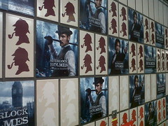 Today Advertising Made Me Happy (jennyfur53) Tags: london advertising tube sherlockholmes bakerstreet gameofshadows