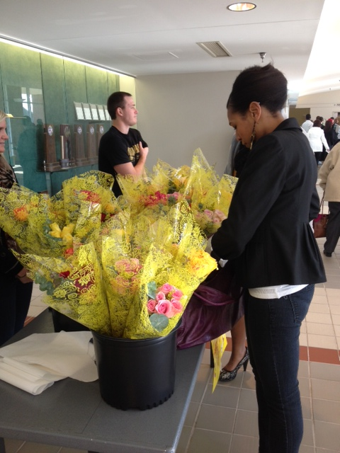 Free flowers for graduates