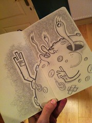 Button Moon ([rich]) Tags: pencil sketch drawing rich pad doodle scribbles ume umetoys