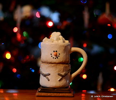 Hot Chocolate...... (smiles7) Tags: christmas tree cup lights nikon hotchocolate coloredlights marsmellows weeklyphotoassignment weekly612011