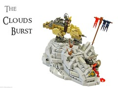 The Clouds Burst (Blake's Baericks) Tags: castle classic wolf rocks lego contest lord cc lotr rings creation ccc blake creature hobbit colossal bilbo baer warg