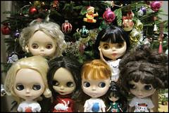 Merry Christmas! (sozzielou) Tags: christmas decorations tree holidays marcia audrey decorating daphne edna cerise 44 monique bpc blythephysicalchallenge