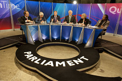 Panellists Peter Hitchens, Rt Hon Ed Balls MP,...