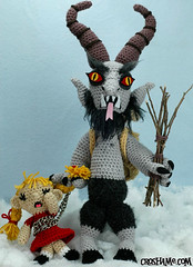 Krampus (Croshame) Tags: christmas winter black crochet peter krampus schmutzli croshame
