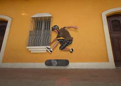 My son skateboarding in Granada, Nicaragua (DavidDennisPhotos.com) Tags: boy skateboarding granada nicaragua boardroom