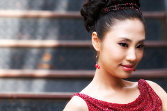 ((qifei)) Tags: china wedding red girl shanghai rosso matrimonio cina ragazza hongkou