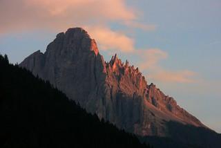 Südtirol, Welschnofen ,  Berggipfel im Abendlicht -  349/0830