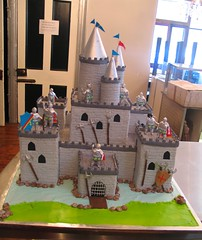 3D Ultimate Castle Fort shaped cake decorated with 3D fondant knight figurines (Charly's Bakery) Tags: castle boys cake town tv shaped chocolate knights fantasy angels bakery cape kiddies charlys october2010