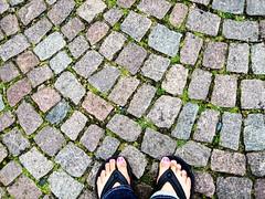 (lauraykuan) Tags: feet europe cobblestone traveling sandels pinktoenails