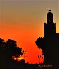 Tramonto a Marrakech (mariarbara) Tags: sunset tramonto marrakech lakoutoubia minaretto