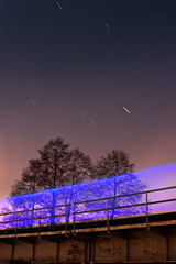 Bridge (Q'bot) Tags: bridge light painting star trails czarna przemsza