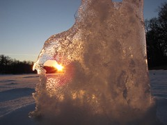 Sunset Ice (skram1v) Tags: assiniboineriver settingsun sturgeoncreek