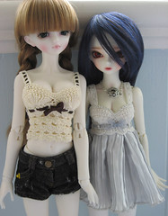 HollyRenee1 (Onizel) Tags: bjd comparison msd yingying minifee minifeeryeon ryeon loongsoulyingying