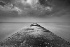 Long Way (A.alFoudry) Tags: bridge sea bw cloud white black clouds canon way eos long slow gulf path mark tide low line full filter arab shore lee frame slowshutter shutter 5d lowtide kuwait fullframe ef kuwaiti 2012 q8 abdullah bech mark2 1635mm الكويت || f28l blackandwhote kuw q80 q8city xnuzha alfoudry leefilter الفودري abdullahalfoudry foudryphotocom mark|| 5d|| canoneos5d|| mk|| canoneos5dmark|| canonef1635mmf28lmark||