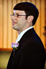 Andrew's first look at his bride walking down the aisle (Mindubonline) Tags: wedding church cake groom bride tn nashville tennessee ceremony marriage reception bouquet nuptials mindub mindubonline timhiber