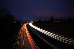 Light trails on the M1 (Lu in MK) Tags: motorway m1 sony fisheye lighttrails 16mm nex 5n vclecf1 nex5n
