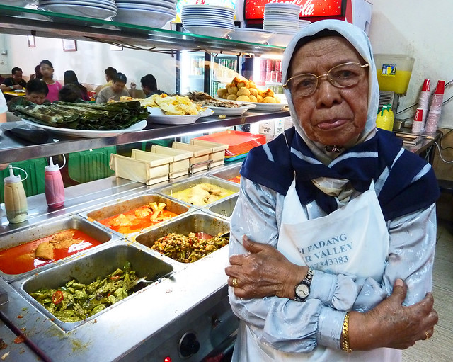 "The majik matriarch of River Valley Nasi Padang wanted to take off her apron and make herself more presentable for the picture, but I told her she was already ""banyak cantik""!"